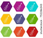 cello icon set many color... | Shutterstock .eps vector #752286343