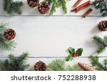 christmas background with... | Shutterstock . vector #752288938