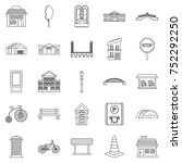 urban architecture icons set.... | Shutterstock .eps vector #752292250