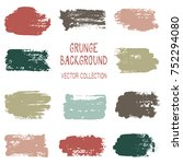 grunge brush stroke texture... | Shutterstock .eps vector #752294080
