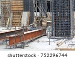 construction site for new... | Shutterstock . vector #752296744