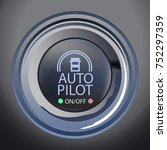 Raster Illustration of Autopilot Button, Vector Version Available