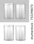 transparent glass jar with... | Shutterstock .eps vector #752298073