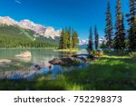beautiful spirit island in... | Shutterstock . vector #752298373