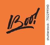 "vector calligraphy inscription ""... | Shutterstock .eps vector #752299540"