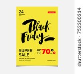 black friday poster or flyer...   Shutterstock .eps vector #752300314