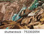 abstract texture of the... | Shutterstock . vector #752302054