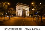night shot from iconic arc de... | Shutterstock . vector #752312413