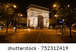 night shot from iconic arc de... | Shutterstock . vector #752312419