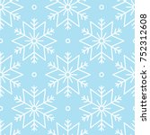 vector seamless pattern with...   Shutterstock .eps vector #752312608