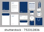 blue geometric corporate... | Shutterstock .eps vector #752312836