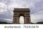 spring photo from iconic arc de ... | Shutterstock . vector #752313670