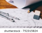 architectural drawings.... | Shutterstock . vector #752315824