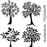 tree set | Shutterstock .eps vector #752316649