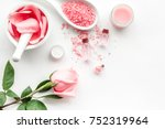 make cosmetics with rose  oil....   Shutterstock . vector #752319964