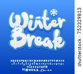 vector snow white cute text... | Shutterstock .eps vector #752329813