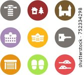 origami corner style icon set   ... | Shutterstock .eps vector #752334298