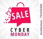 cyber monday sale background... | Shutterstock .eps vector #752334400