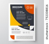 flyer brochure design template  ... | Shutterstock .eps vector #752338816