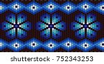 vector pattern of beads of the... | Shutterstock .eps vector #752343253