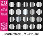 vector set of silver gradients  ... | Shutterstock .eps vector #752344300