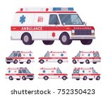 ambulance car rescue set. 911... | Shutterstock .eps vector #752350423