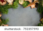 ginger homemade cookies with... | Shutterstock . vector #752357593
