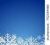 winter background | Shutterstock .eps vector #752359480