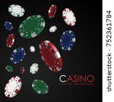 playing chips. casino. gambling.... | Shutterstock .eps vector #752361784