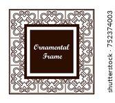ornamental colored vintage... | Shutterstock .eps vector #752374003