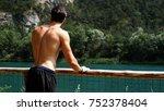 young shirtless muscular man... | Shutterstock . vector #752378404