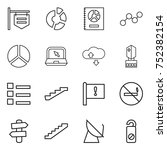 thin line icon set   shop... | Shutterstock .eps vector #752382154
