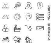 thin line icon set   hierarchy  ... | Shutterstock .eps vector #752383804