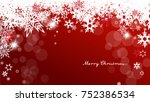 christmas background with white ... | Shutterstock .eps vector #752386534