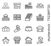 thin line icon set   hierarchy  ... | Shutterstock .eps vector #752389720