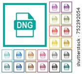 dng file format flat color... | Shutterstock .eps vector #752392054