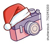funny and cute vintage camera... | Shutterstock .eps vector #752393203