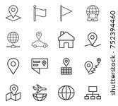 thin line icon set   pointer ... | Shutterstock .eps vector #752394460