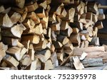 A Lot Of Dry Chopped Firewood...