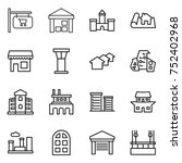 thin line icon set   shop... | Shutterstock .eps vector #752402968
