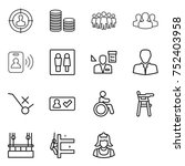 thin line icon set   target... | Shutterstock .eps vector #752403958