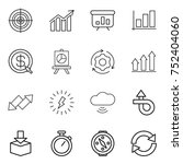 thin line icon set   target ... | Shutterstock .eps vector #752404060