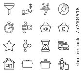 thin line icon set   funnel ... | Shutterstock .eps vector #752404918