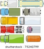 cargo cars overhand view...