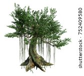 3d rendering of a kapok tree... | Shutterstock . vector #752409580