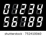 digital numbers for black lcd... | Shutterstock .eps vector #752410060