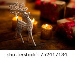 vintage christmas theme...   Shutterstock . vector #752417134