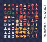 xmas symbols. mega big set of... | Shutterstock .eps vector #752422078