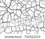 structure of the cracked earth... | Shutterstock .eps vector #752422219