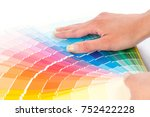 the person chooses a color in... | Shutterstock . vector #752422228